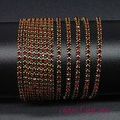 Материалы для творчества handmade. Livemaster - original item Rhinestone chain dense SS12 3 mm Siam in Golden DACs 10 cm. Handmade.