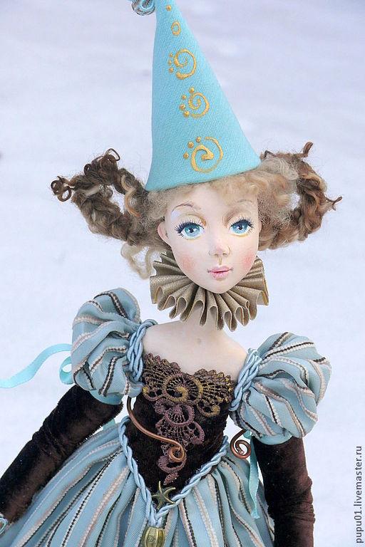 Коллекционные куклы ручной работы. Ярмарка Мастеров - ручная работа. Купить Коллекционная  кукла Паолина. Handmade. Бирюзовый