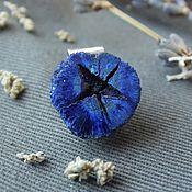 Украшения handmade. Livemaster - original item Pendant with split kidney azurite. Blue pendant silver. Handmade.