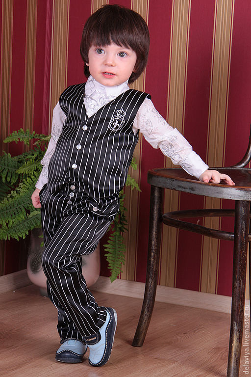 Одежда для мальчиков, ручной работы. Ярмарка Мастеров - ручная работа. Купить Костюм для мальчика Аля мафиози от Delaviya. Handmade.