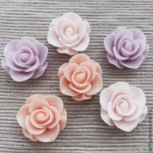 Другие виды рукоделия ручной работы. Ярмарка Мастеров - ручная работа. Купить Цветок из пластика (6 шт/уп) 260519. Handmade.