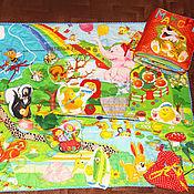 Куклы и игрушки ручной работы. Ярмарка Мастеров - ручная работа Развивающий комплект :коврик+книга. Handmade.