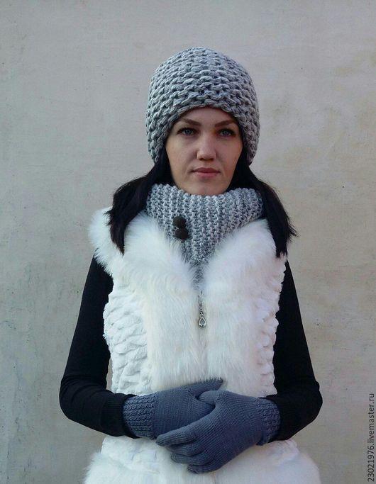 Шапки ручной работы. Ярмарка Мастеров - ручная работа. Купить шапка Сибирячка. Handmade. Серый, зимняя шапка