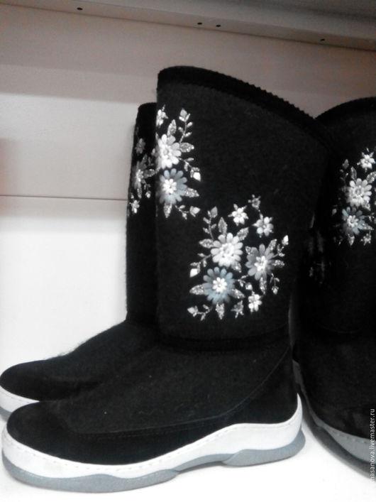 Обувь ручной работы. Ярмарка Мастеров - ручная работа. Купить Сапоги зимние Эстер. Handmade. Коричневый, сапоги ручной работы