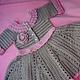 Одежда для девочек, ручной работы. Ярмарка Мастеров - ручная работа. Купить платье для малышки. Handmade. Серый, платье для девочки