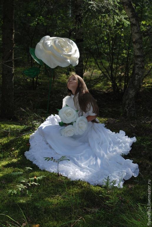 Цветы ручной работы. Ярмарка Мастеров - ручная работа. Купить Большая роза белая. Handmade. Белый, роза белая, оформление