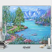 Pictures handmade. Livemaster - original item Mountain landscape
