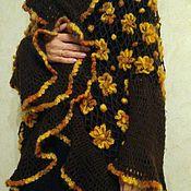 Одежда ручной работы. Ярмарка Мастеров - ручная работа Кардиган вязаный ажурный в Цветочки. Handmade.