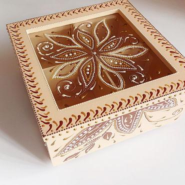 Для дома и интерьера ручной работы. Ярмарка Мастеров - ручная работа Шкатулка Кремовая нежность. Handmade.