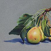 Картины и панно ручной работы. Ярмарка Мастеров - ручная работа Картина пастелью Груши. Handmade.