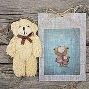 9-4 Медвежонок 14см, 13х18см упаковка подарок детский