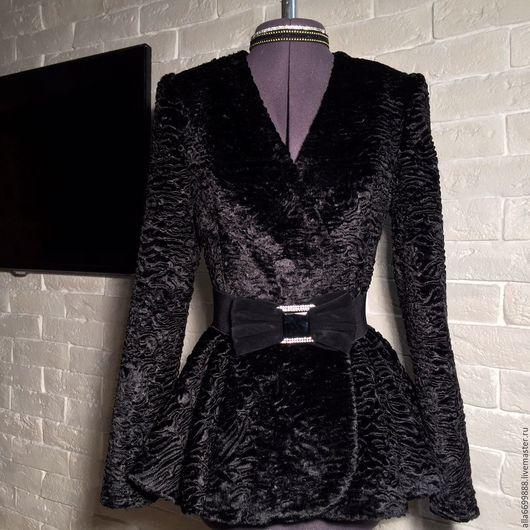 Верхняя одежда ручной работы. Ярмарка Мастеров - ручная работа. Купить Пальто Каракуль баска. Handmade. Пальто