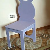 Мебель ручной работы. Ярмарка Мастеров - ручная работа Стульчик зайчик. Handmade.
