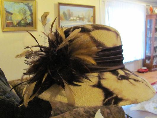 """Шляпы ручной работы. Ярмарка Мастеров - ручная работа. Купить Шляпа из велюра """"Сахара"""". Handmade. Шляпа, авторские головные уборы"""