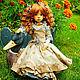 Одежда для кукол ручной работы. Ярмарка Мастеров - ручная работа. Купить Кукольное платье из американского хлопка Голубая розочка. Handmade.