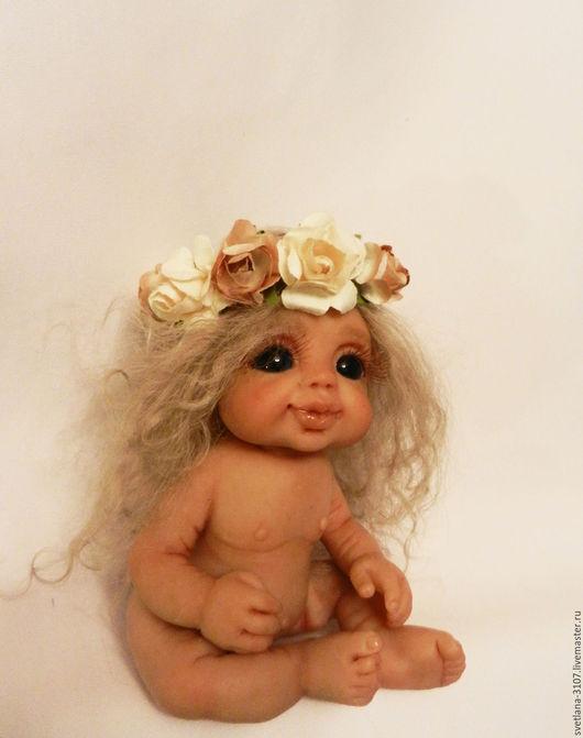 Коллекционные куклы ручной работы. Ярмарка Мастеров - ручная работа. Купить Маленькая феечка. Handmade. Бежевый, авторская ручная работа