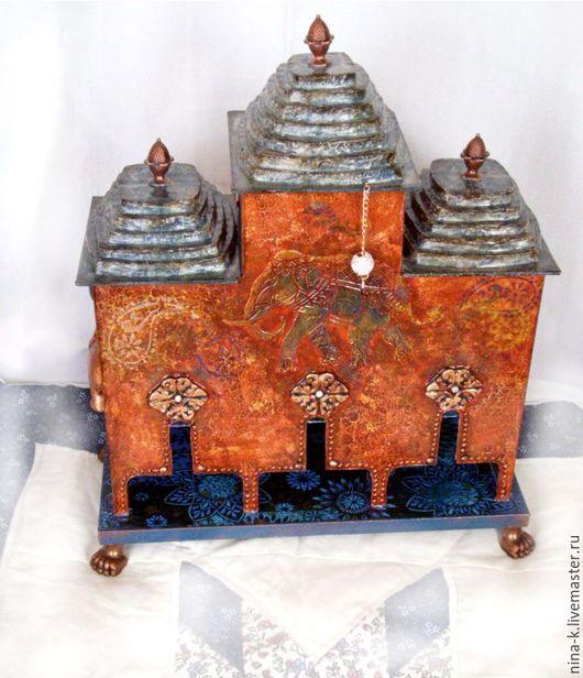 """Кухня ручной работы. Ярмарка Мастеров - ручная работа. Купить чайный домик """"Индия"""". Handmade. Комбинированный, деревянная основа"""
