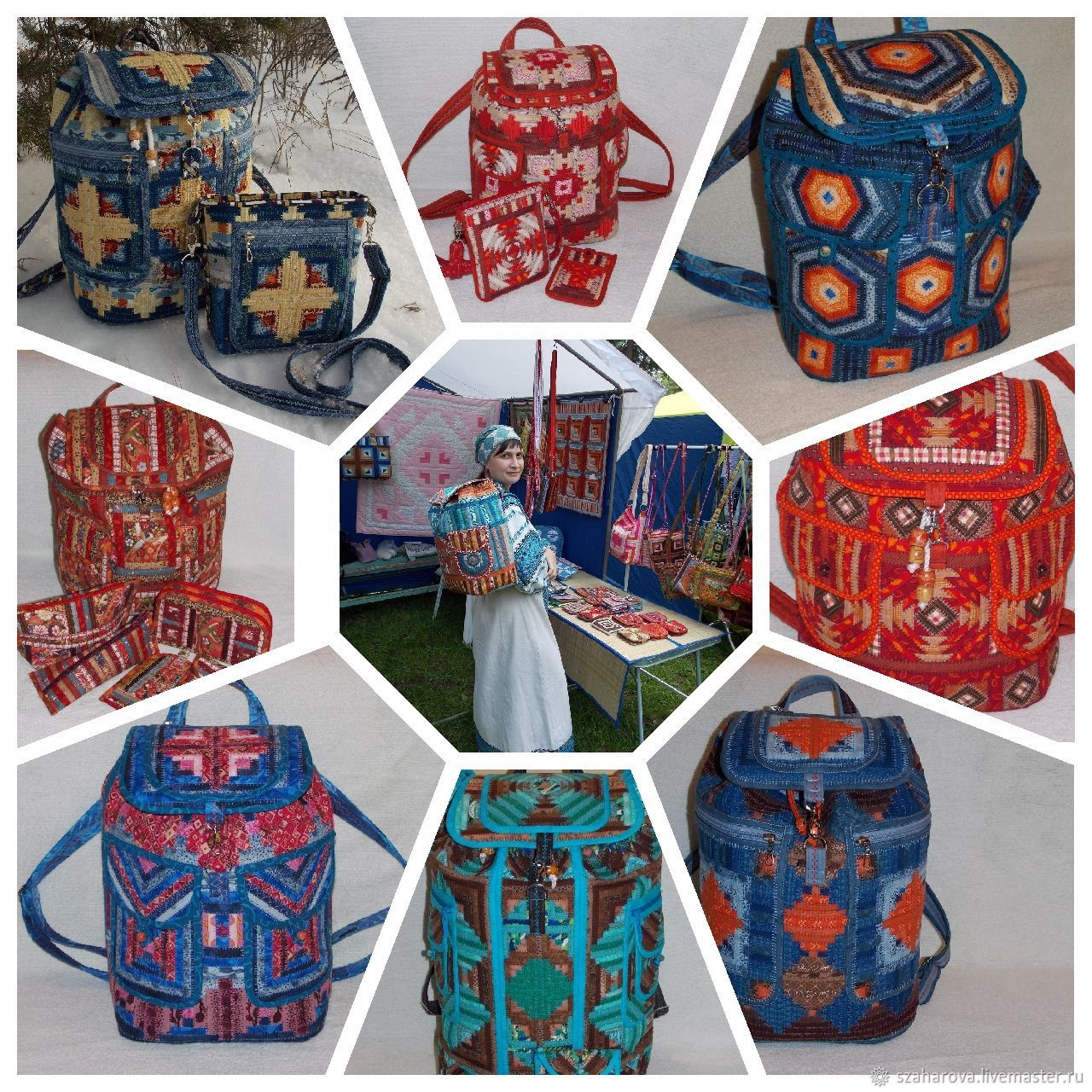 Backpack patchwork, Women's,of Textile,Large, urban, Patchwork, Backpacks, Novosibirsk, Фото №1