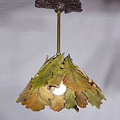 Для дома и интерьера handmade. Livemaster - original item A bouquet of oak leaves lamp for porch. Handmade.