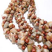 Украшения handmade. Livemaster - original item Harness from Mirage stones, Jasper, harness choker. Handmade.