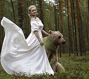 Одежда handmade. Livemaster - original item White maxi dress Maria, dress with open shoulders. Handmade.