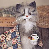 Куклы и игрушки handmade. Livemaster - original item A cozy evening with the cat Toy cat. Handmade.