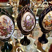 Подарки к праздникам handmade. Livemaster - original item Easter egg interior Sapphire hand painted. Handmade.