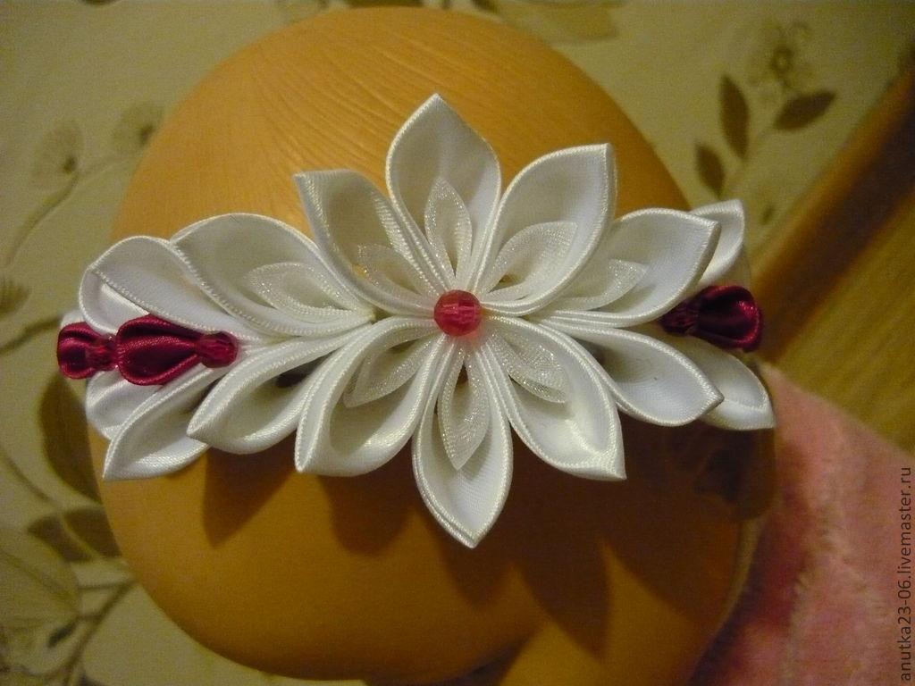 Цветы из атласных лент своими руками для девочек