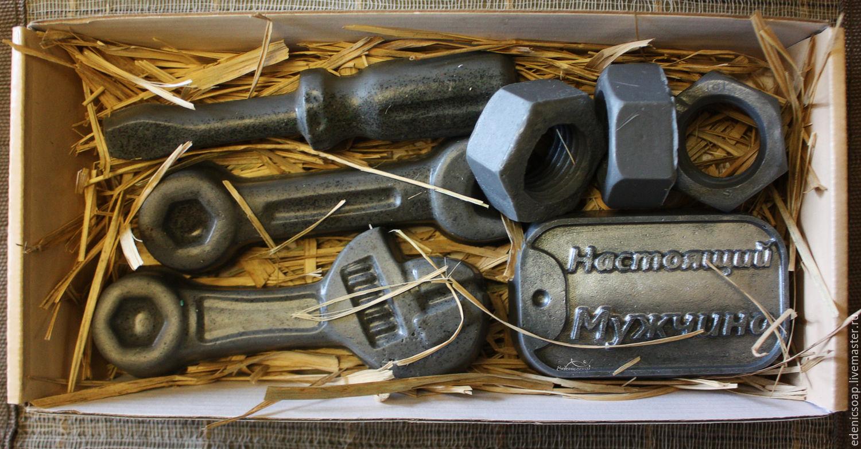 Original gift set handmade soap. Gift mechanics. Edenicsoap.