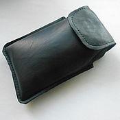 Сумки и аксессуары handmade. Livemaster - original item LEATHER PHONE CASE black. Handmade.