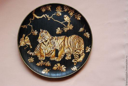 """Животные ручной работы. Ярмарка Мастеров - ручная работа. Купить панно """"Тигрята"""". Handmade. Панно, панно на стену, панно в подарок"""