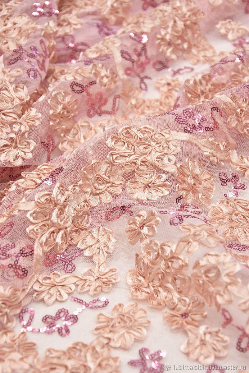 dea53bb4b Кружево 3D розовые цветочки Италия. Итальянское кружево. Интернет-магазин  ...