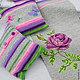 """Текстиль, ковры ручной работы. Коврик в стиле шебби шик """"Сиреневые розы"""". Просто Счастье. Интернет-магазин Ярмарка Мастеров."""