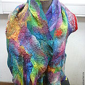 Аксессуары handmade. Livemaster - original item Scarf felted Kingdom Rainbow Islands. Handmade.