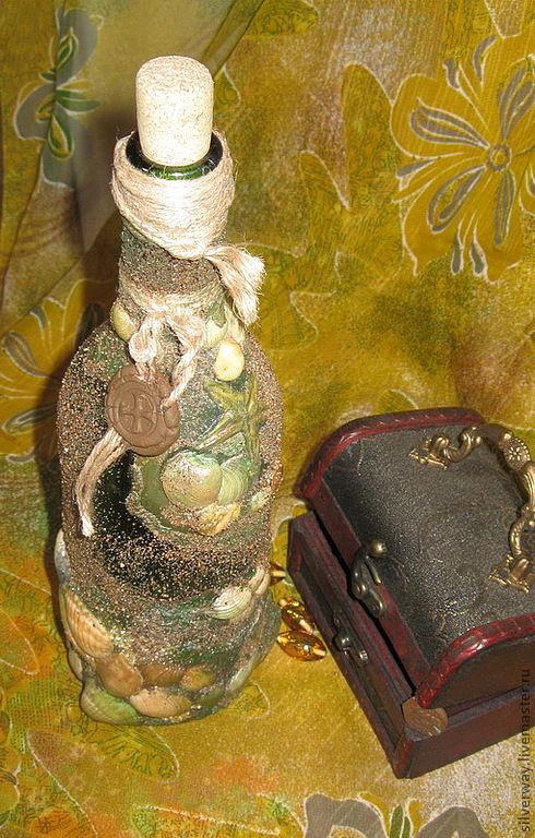 Персональные подарки ручной работы. Ярмарка Мастеров - ручная работа. Купить декоративная бутылка   Морская почта. Handmade. Бутылка декоративная