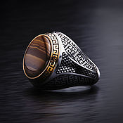 Украшения handmade. Livemaster - original item Ring-signet: Aztec style mans ring. Handmade.