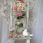 """Для дома и интерьера ручной работы. Ярмарка Мастеров - ручная работа """"Утренняя роза"""" стульчик. Handmade."""