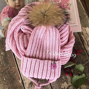 Одежда ручной работы. Ярмарка Мастеров - ручная работа Комплект из мериноса Шапка шарф. Handmade.