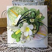 Цветы и флористика ручной работы. Ярмарка Мастеров - ручная работа Панно с тропическими цветами. Handmade.