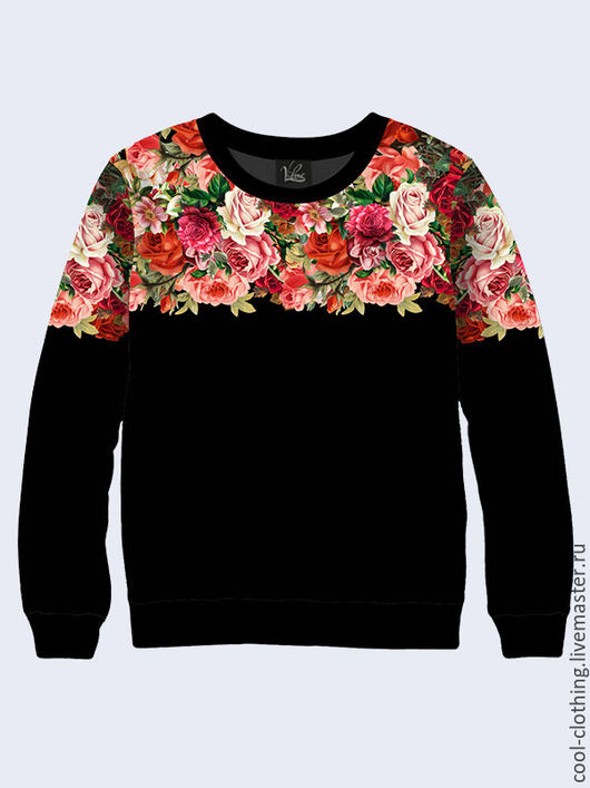"""Кофты и свитера ручной работы. Ярмарка Мастеров - ручная работа. Купить Кофта женская """"Розы"""" в винтажном стиле. Handmade. Черный"""