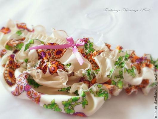 """Белье ручной работы. Ярмарка Мастеров - ручная работа. Купить """"Бабочки"""". Трусики из натурального шелка. Handmade. Разноцветный, натуральный шелк"""