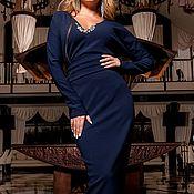 """Одежда ручной работы. Ярмарка Мастеров - ручная работа Платье """"Bliss"""" синий. Handmade."""