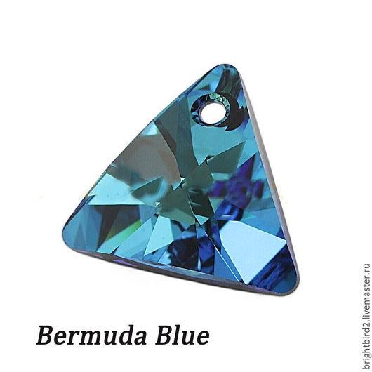 Для украшений ручной работы. Ярмарка Мастеров - ручная работа. Купить Подвеска Треугольник  6628 цвет Bermuda Blue Сваровски. Handmade.