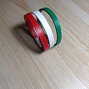 Украшения handmade. Livemaster - original item Magnetic leather bracelet