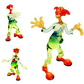 Для дома и интерьера ручной работы. Ярмарка Мастеров - ручная работа Интерьерная скульптура из цветного стекла -  клоун Бим, Бам и Бом. Handmade.