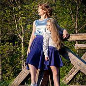"""Одежда ручной работы. Ярмарка Мастеров - ручная работа Юбки для мамы и дочки """"Blue dream"""". Handmade."""