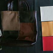 Материалы для творчества handmade. Livemaster - original item Eco-leather set for sewing shopping bags or string bags. Handmade.