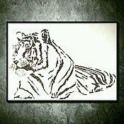Pictures handmade. Livemaster - original item White tiger. Handmade.