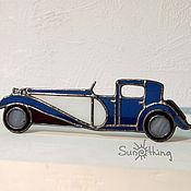 """Сувениры и подарки ручной работы. Ярмарка Мастеров - ручная работа Декор ретро-машина """"Bugatti 1930"""". Handmade."""