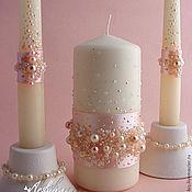 """Свадебный салон ручной работы. Ярмарка Мастеров - ручная работа Свадебные свечи """"Млечный путь"""". Handmade."""